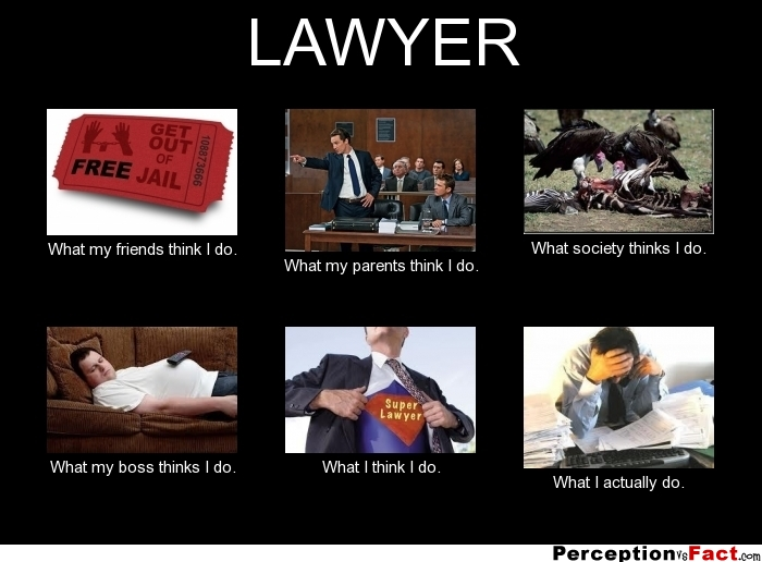 Lawyer what my friends think i do what my parents think i do what
