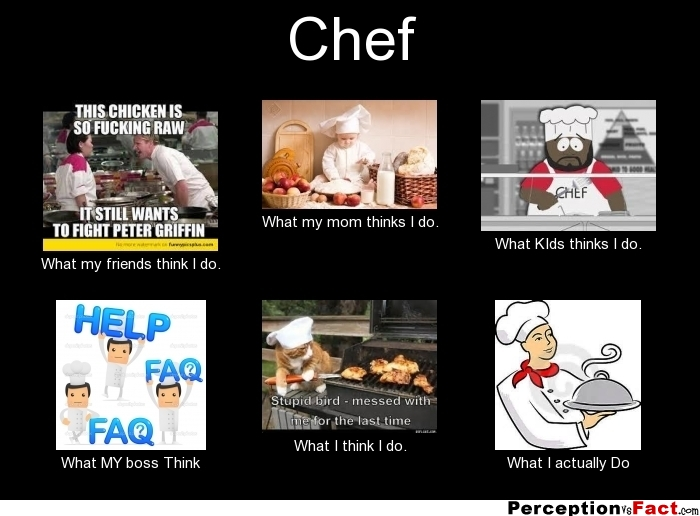 Chef What People Think I Do What I Really Do