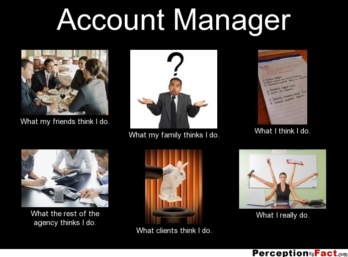 Account Manager What People Think I Do What I Really
