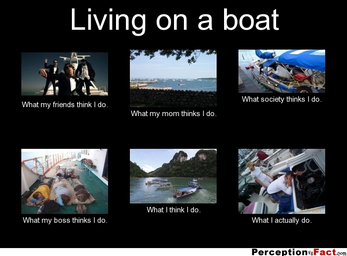 Living on a boat... - What people think I do, what I ...