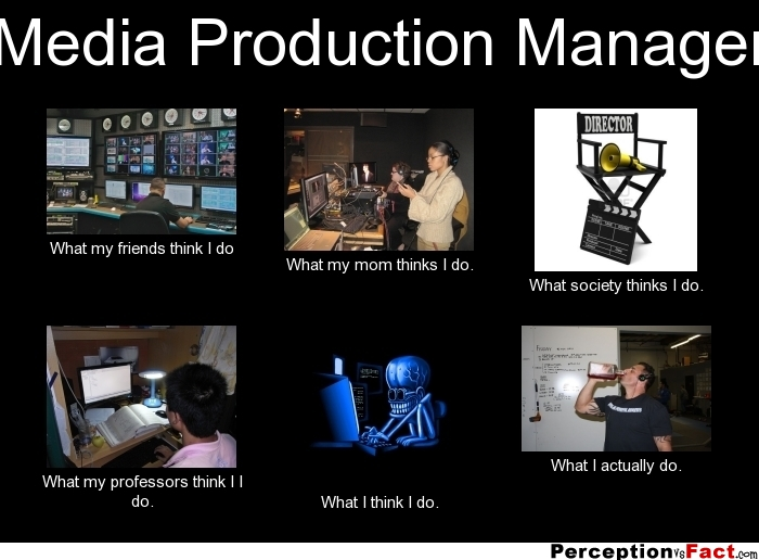 Media Production Manager What People Think I Do What