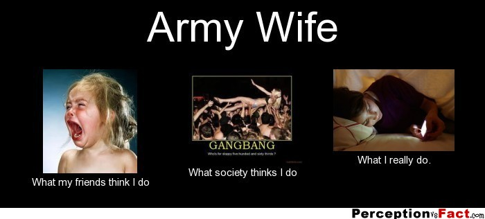 Army Wife... - What people think I do, what I really do ...