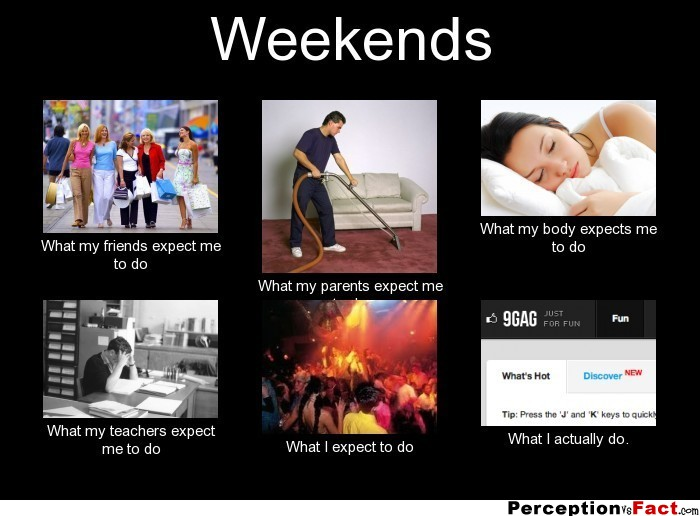 Weekends What People Think I Do What I Really Do