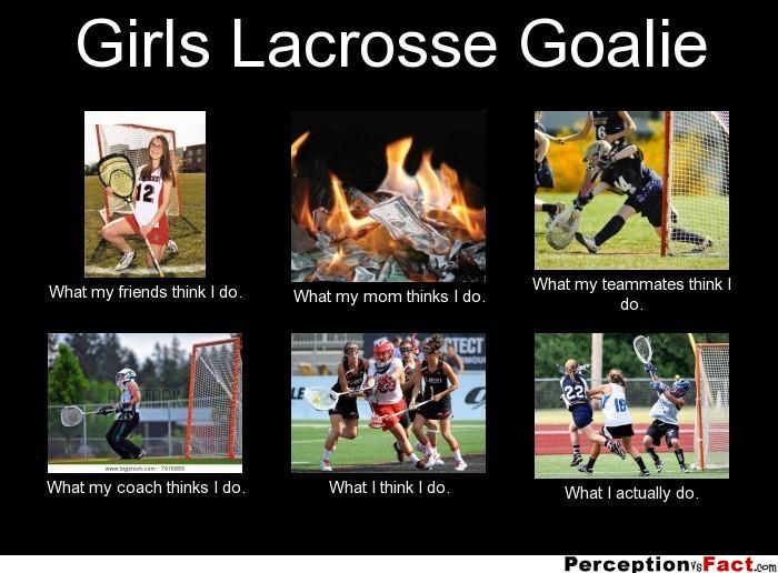 frabz Girls Lacrosse Goalie What my friends think I do What my mom thi c34e35 girls lacrosse goalie what people think i do, what i really