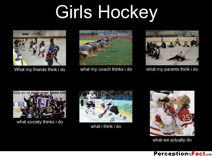 Girls Hockey What People Think I Do What I Really Do