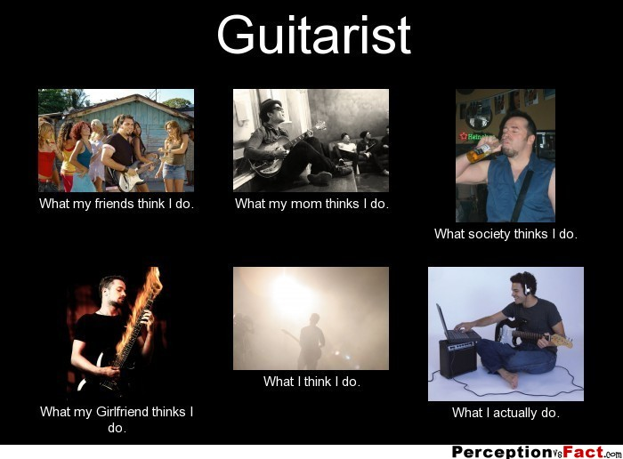 Guitarist What People Think I Do What I Really Do