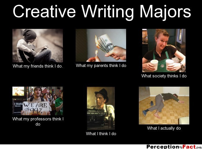 Major in creative writing