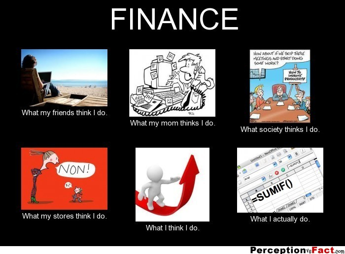 Finance What People Think I Do What I Really Do