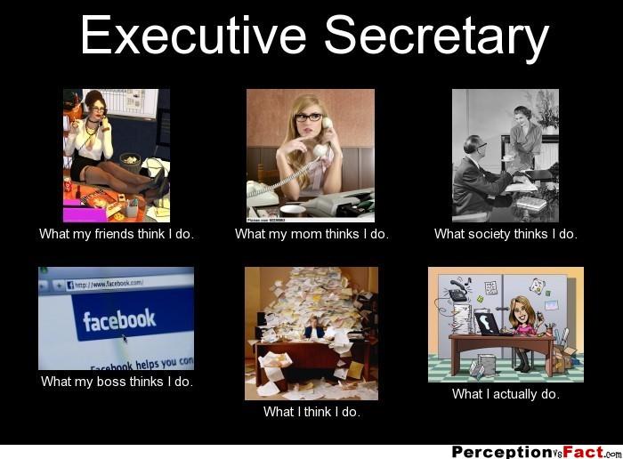Executive Secretary What People Think I Do What I