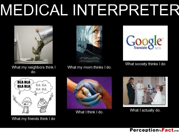 Medical Interpreter What People Think I Do What I