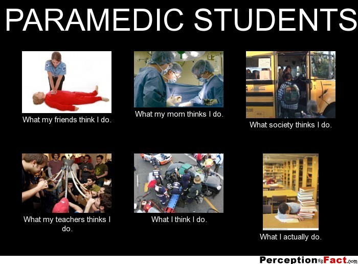 PARAMEDIC STUDENTS... - What people think I do, what I ...