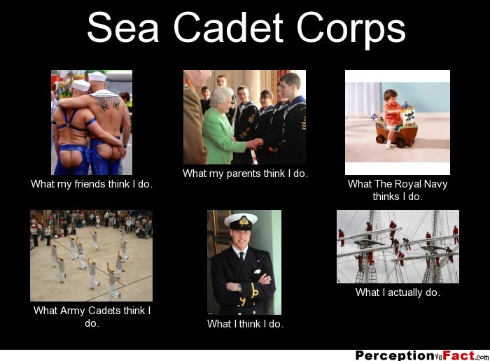 Sea Cadet Corps... - What people think I do, what I really ...
