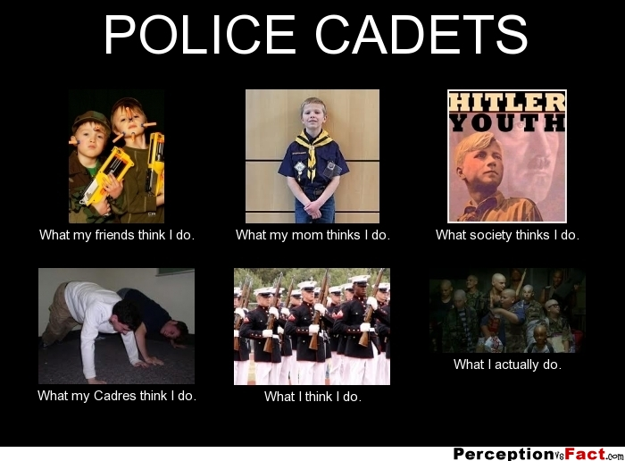 Police Cadets What People Think I Do What I Really