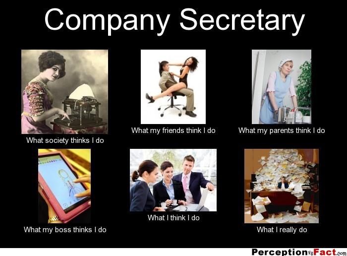 Company Secretary... - What people think I do, what I ...