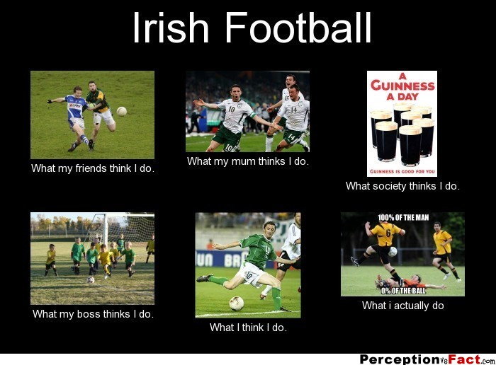 Irish Football... - What people think I do, what I really ...