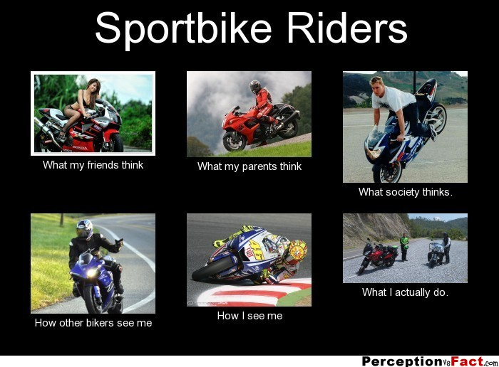 how to sit on a sportbike