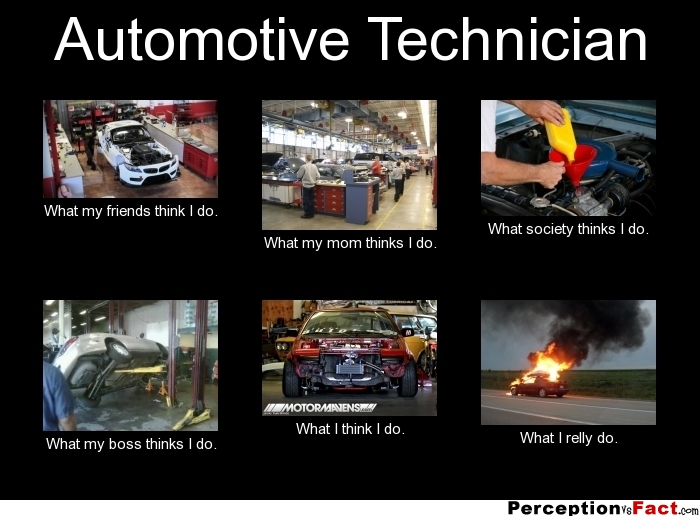 Automotive Technician... - What people think I do, what I really do ...