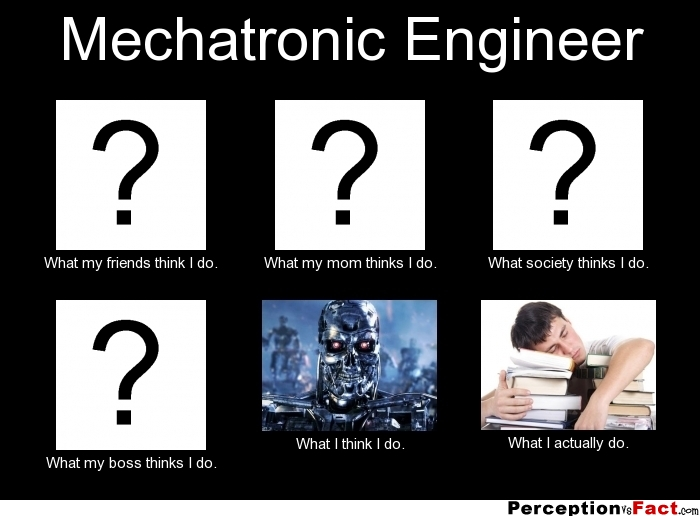 Mechatronic Engineer What People Think I Do What I