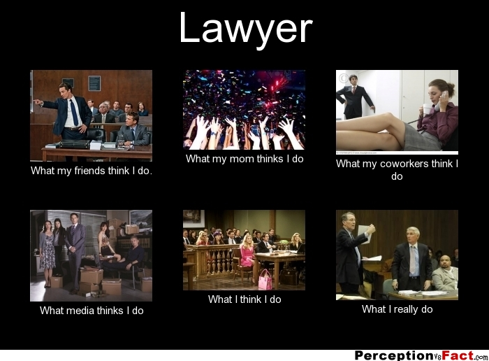 Lawyer what people think i do what i really do perception vs