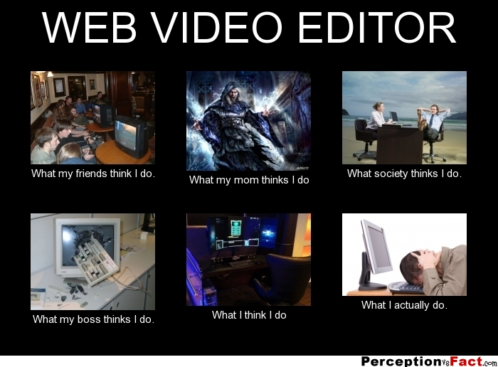 Funny Meme Editor : Web video editor what people think i do
