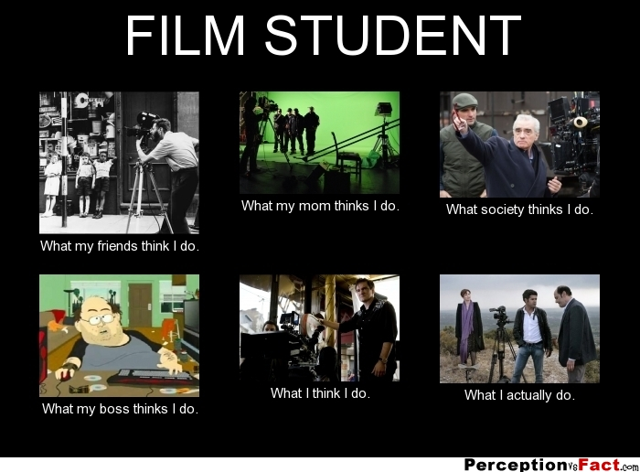 Film Student What People Think I Do What I Really Do