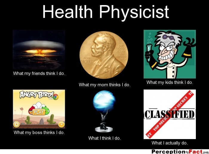 Health Physicist What People Think I Do What I