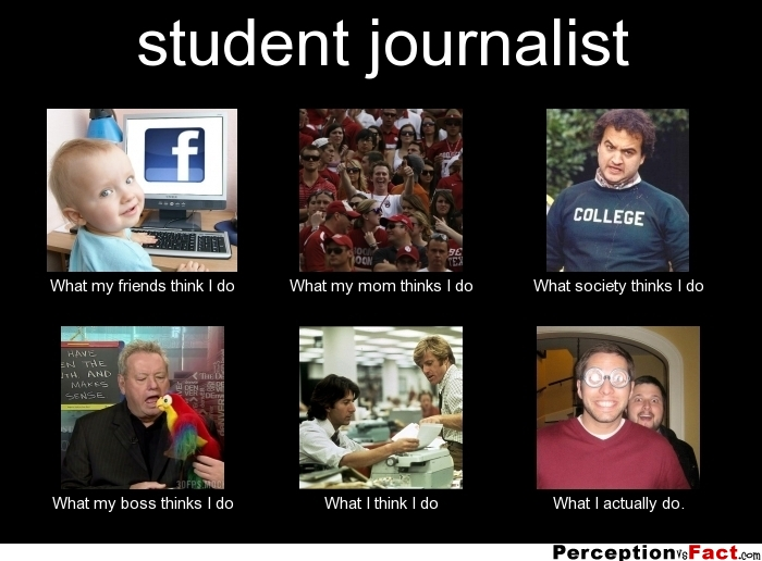 Student Journalist What People Think I Do What I