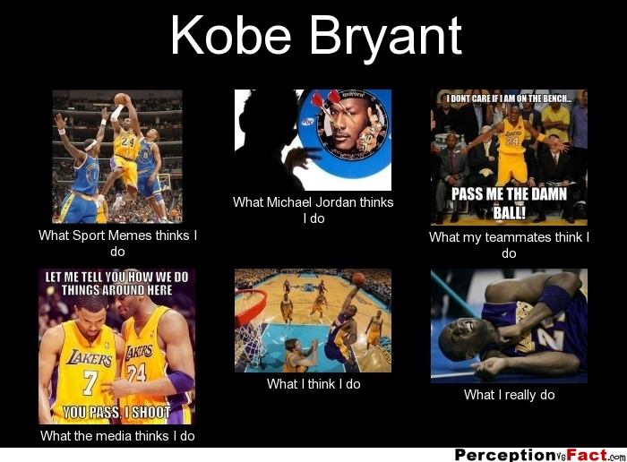 Kobe Bryant... - What people think I do, what I really do ... Funny Sport Memes 2013