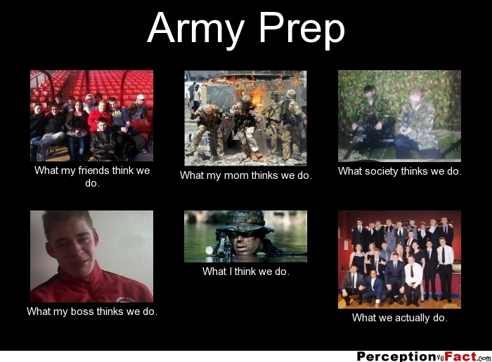 Army Prep What People Think I Do What I Really Do