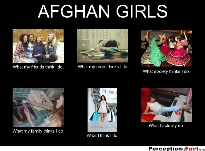 Afghan Girls What People Think I Do What I Really Do
