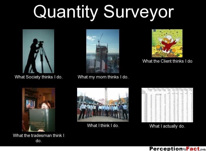 quantity surveyor   what people think i do what i really do   perception vs fact