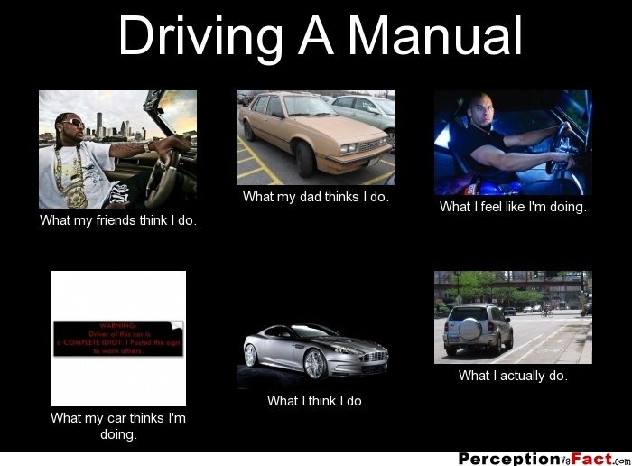 Driving A Manual What People Think I Do What I