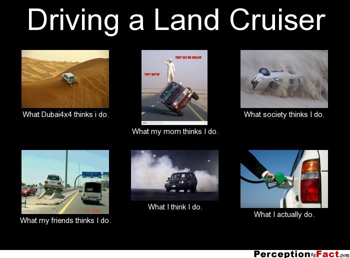 Driving A Land Cruiser What People Think I Do What I