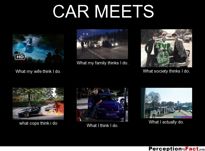 car meets   what people think i do what i really do   perception vs fact
