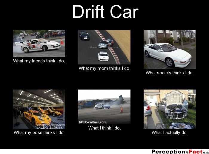 Drift Car What People Think I Do What I Really Do