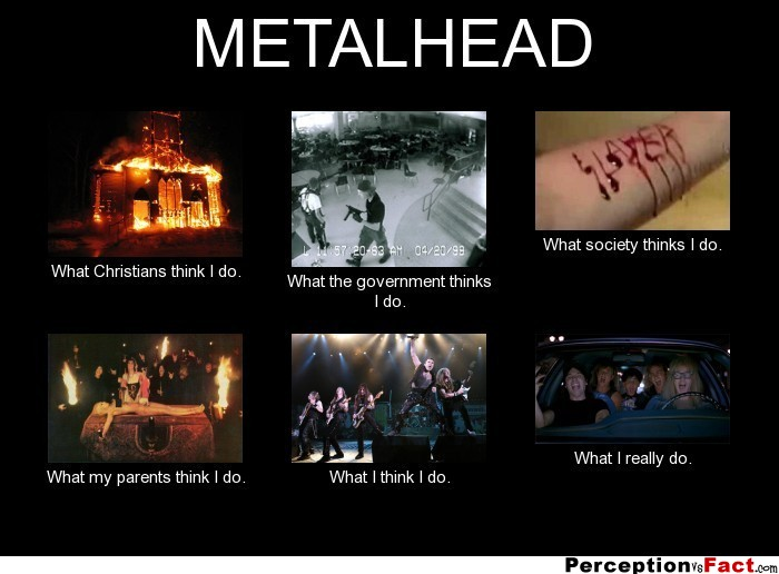 Metalhead What People Think I Do What I Really Do
