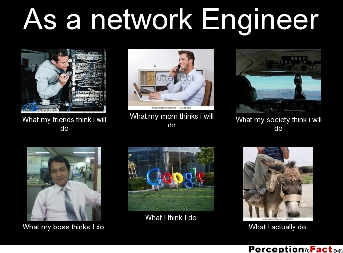 As A Network Engineer What People Think I Do What I