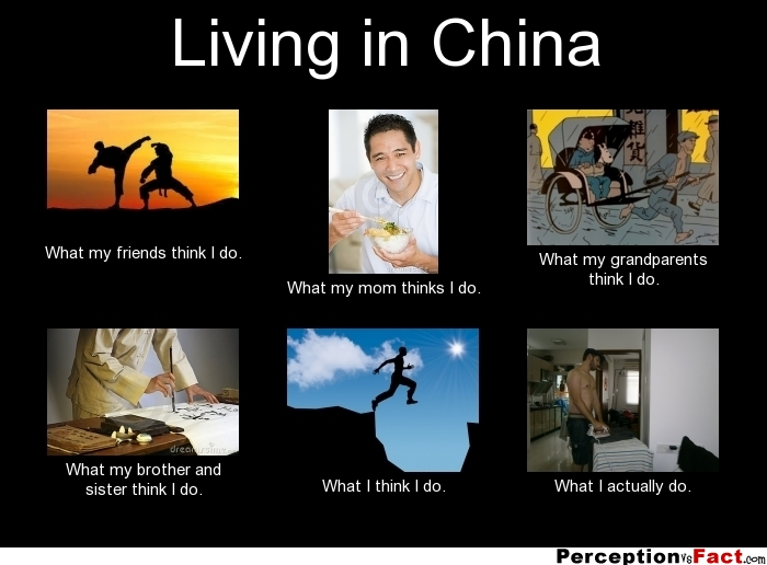 Living In China What People Think I Do What I Really