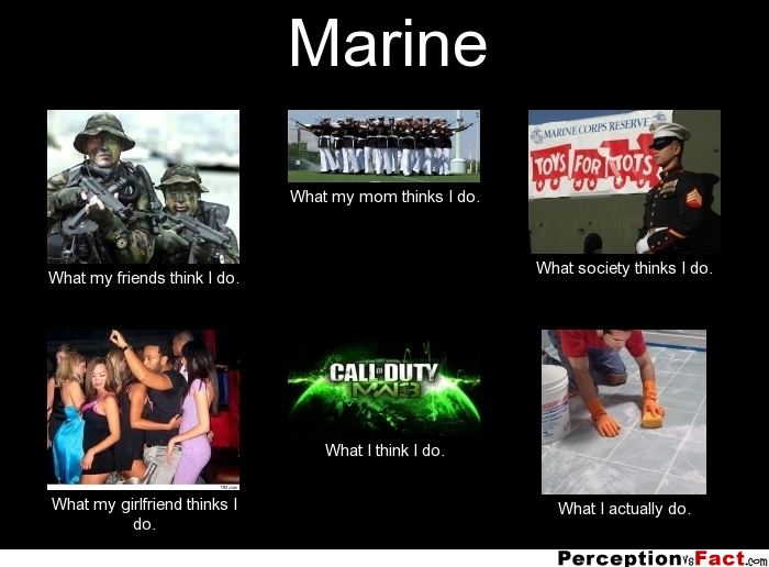 Marines what my friends think i do maxwellsz