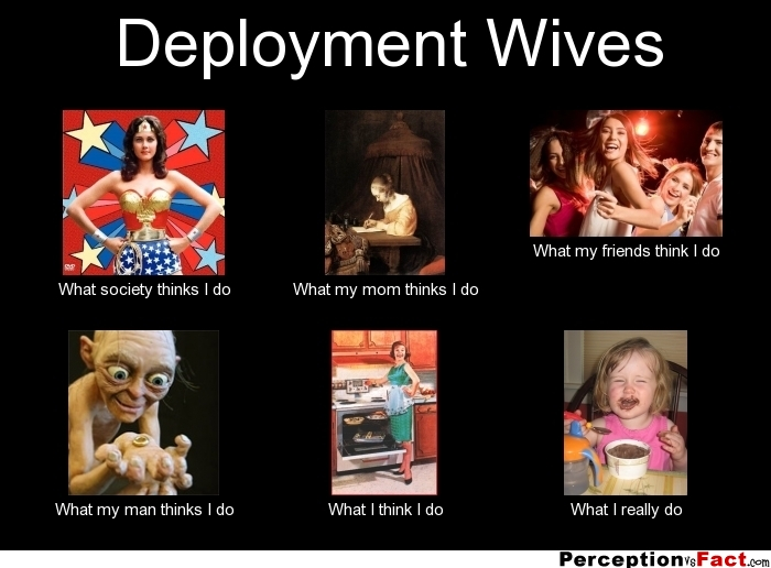 Deployment Wives What People Think I Do What I