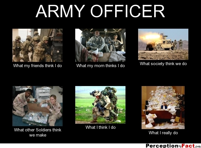 ARMY OFFICER... - What people think I do, what I really do ...