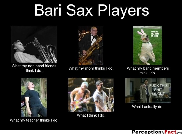 Bari Sax Players... - What people think I do, what I ... Funny Quotes