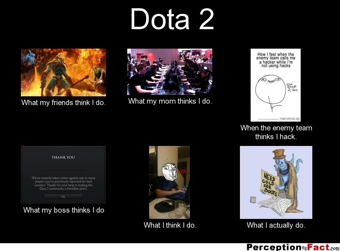 Dota 2 What People Think I Do What I Really Do