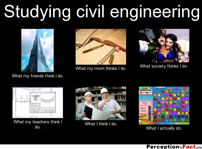 studying civil engineering what people think i do