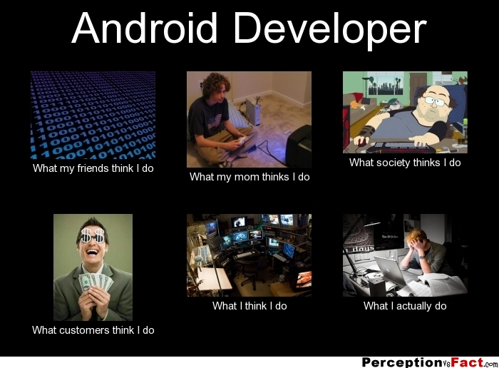 Android Developer What People Think I Do What I