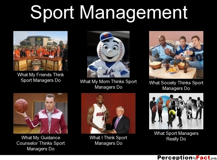 Sport Management... - What people think I do, what I ...